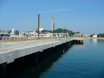 Old MacMillen Pier on left, new on right